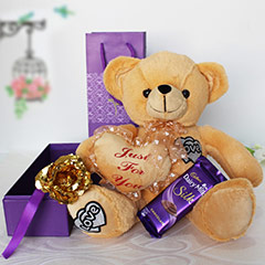 Just For You Teddy Hamper