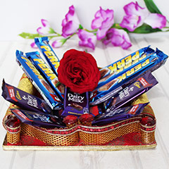 Choco Basket with Rose