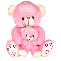Big Pink Teddy with Small Teddy