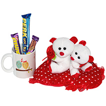 Cute Teddy with Choco Delight