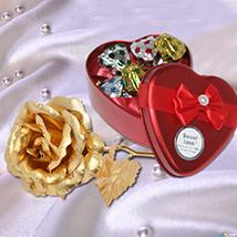 Romantic Heart & Rose Combo