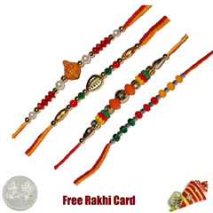 Set of 4 Beads Rakhi /></a></div><div class=
