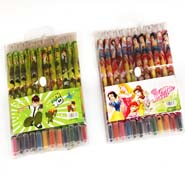 Set of 2 Roll Pens Crayons