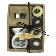 Chocolate tea-light candle set