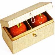 Golden Double Laddoo Box