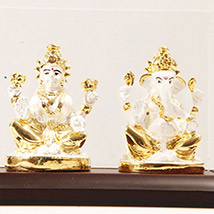 White laxmi Ganesha in Cabin
