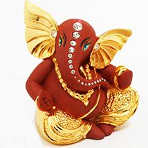 Lmtk5048 Brown Terricota Ganesha