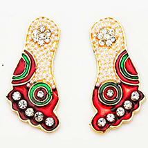 Multicolor Metal Laxmi Goddess Feet