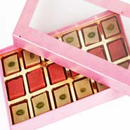 Strawberry Squares in Pink Box