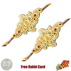 24 Ct. Gold Rakhi  Set of 2 /></a></div><div class=