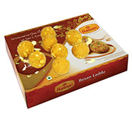 Mouthwatering 1kg Besan Ladoo Pack