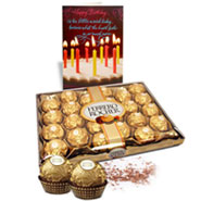 Delightful Ferrero Rocher With Birthday Card