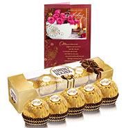 5 Piece Ferrero Rocher With Birthday Card