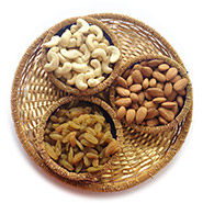 Golden Tray of Healthy Dryfruits