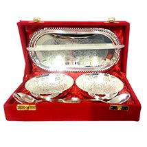 Dual Silver Bowl Set