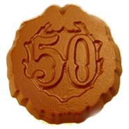 50th Birthday/Anniversary Sugarfree Chocolate Coins