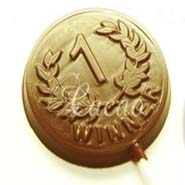 Set of 4 Chocolate Medal Lollies