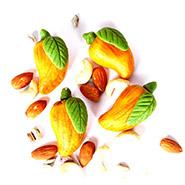 Sweets -Sugarfree Kaju Pista Mango Mithai 500 gms