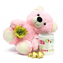 Chocolate Mug Teddy Combo