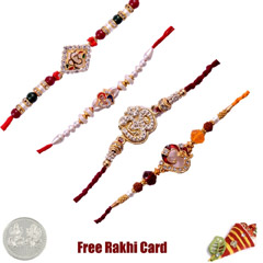 Set of 4 Religious Rakhi /></a></div><div class=
