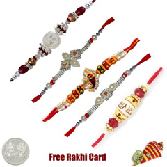 Jewelled Rakhi Set of 5