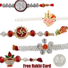 Jewelled Rakhi Set of 5 /></a></div><div class=