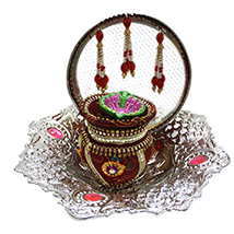 Karwa Chauth Silver Combo