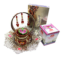 Delectable Karwa Chauth Gift with Silver Bowl