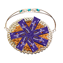 Decorative basket with chocolate delights