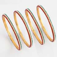 Multicolour Pearl bangles
