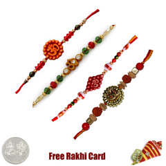 Set of 4 Om Rakhis /></a></div><div class=