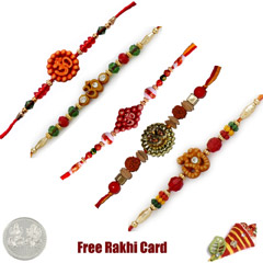 Om Rakhi Set of 5