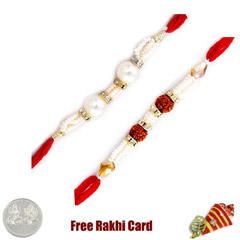 Pearl Rakhi Set of 2