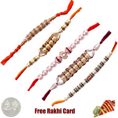 Pearl Rakhi Set of 5