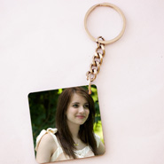 Square shape friends photo key chain