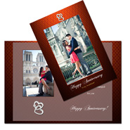 Happy anniversary to my sweet heart personalized greeting card 453
