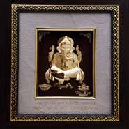Ganpati Pure Gold Frame - Mini