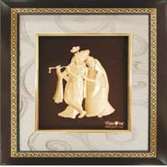 Radha Krishna Pure Gold Frame - Mini