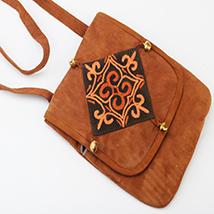 Kashmiri Brown Leather Sling Bag