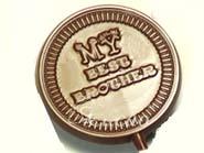 Sugarfree Set of 4  Best Brother Chocolate  Lollies