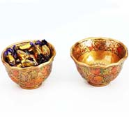 Kashmiri Bowls with Chocolate Eclairs