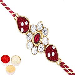 Rakhis Online - J-31062 Rose Flower Jewel Rakhi /></a></div><div class=