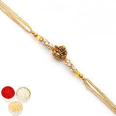 Rakhis Online- Premium Classic The Laughing Buddha Diamond Rakhi /></a></div><div class=