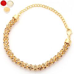Rakhis Online - Premium  Gold  Braclet with 200 gms of Kaju katli /></a></div><div class=
