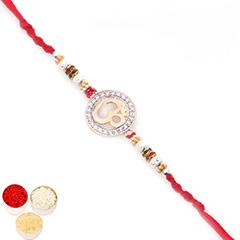 Rakhis Online - Premium Classic The Om Shanti Om Diamond Rakhi  with 400 gms of Kaju katli /></a></div><div class=