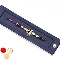 Rakhis Online - Premium American Diamond Om Rakhi with 200 gms of Kaju katli /></a></div><div class=