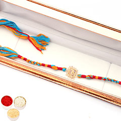 Rakhis Online- Premium Om Rakhi with a Certified Real Diamond /></a></div><div class=