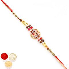 Rakhis Online - Premium Classic Om American Diamond Rakhi  with 400 gms of Kaju katli /></a></div><div class=