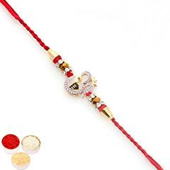 Rakhis Online - Premium Classic Om Shiv American Diamond Rakhi  with 400 gms of Kaju katli /></a></div><div class=