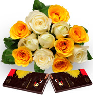 Roses with Dark Chocolate
